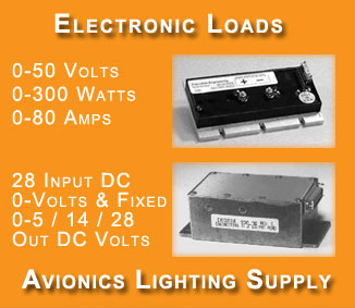 Electronic Loads & Avionics Power Supply
